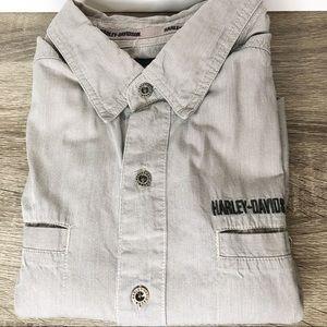 Harley Davidson men's button embroidery shirt xl